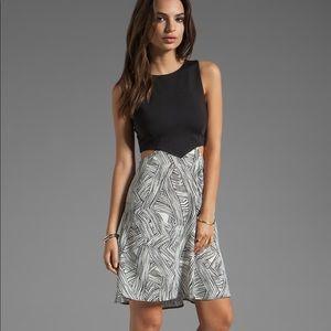Donna Mizani Flounce Dress